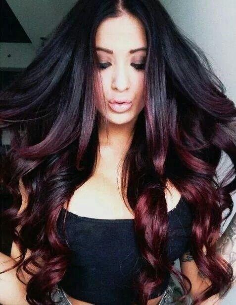 розовый балаяж на темные волосы фото