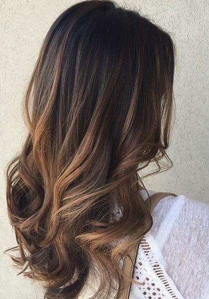 покраска балаяж на темные волосы