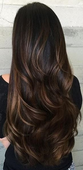 красивый балаяж на темные волосы