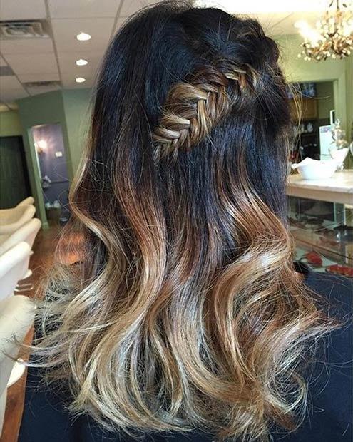 как сделать балаяж на темные волосы