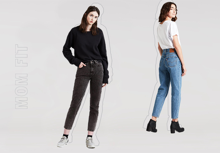 Гид по джинсам: mom джинсы, mom fit