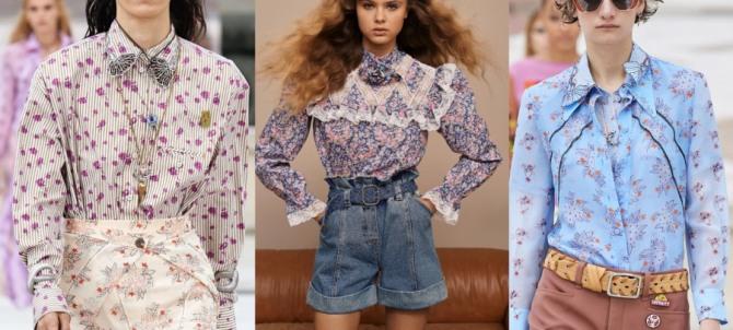 блузки 2021 года для девушек с цветочным принтом и длинными рукавами - европейская мода