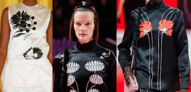блузки 2021 года с очень крупным цветочным рисунком