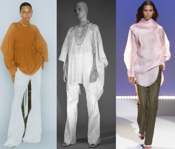 вечерние нарядные блузы и туники 2021 года - новинки с подиума