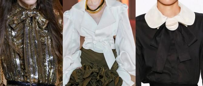в 2021 году в моде вечерние блузки с бантами