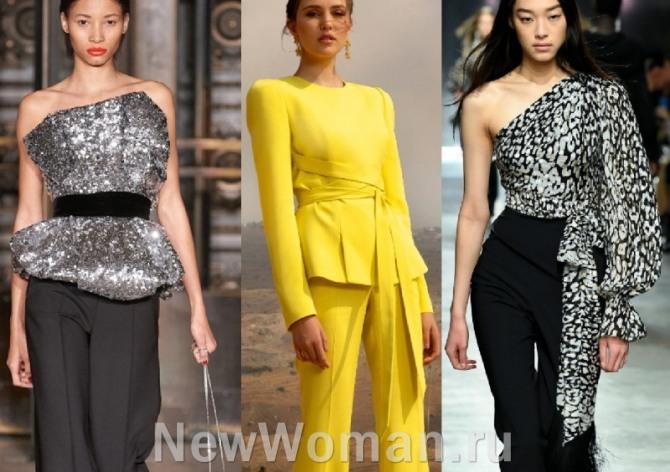вечерние блузки с поясом - тренды в женской стильной одежде2021 года