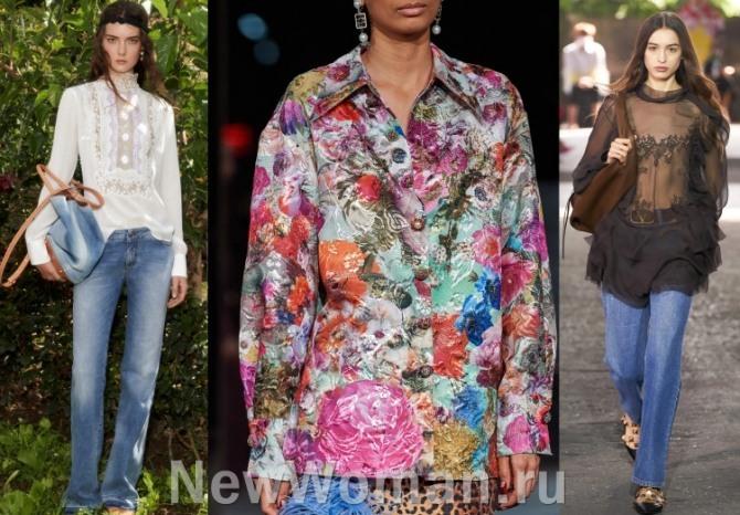блузы и туники - уличная мода 2021 года