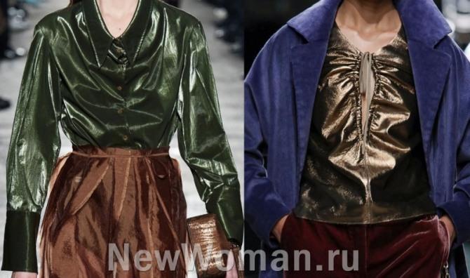блузки для торжества из металлизированной ткани