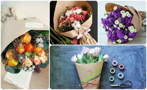Выбираем букет: самые красивые и модные букеты цветов - фото