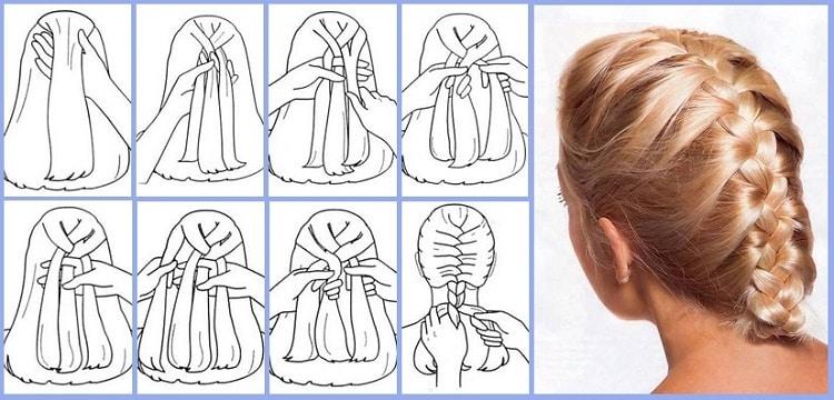 Базовая схема плетения колоска