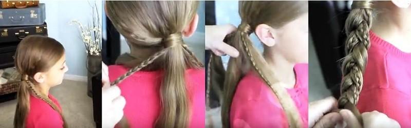 Красивая фигурная косичка для девочки с пошаговым выполнением