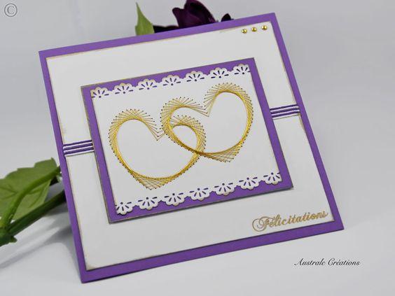 сердечки открытка изонить