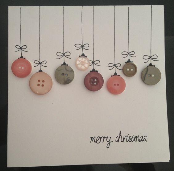 новогодние открытки из пуговиц своими руками