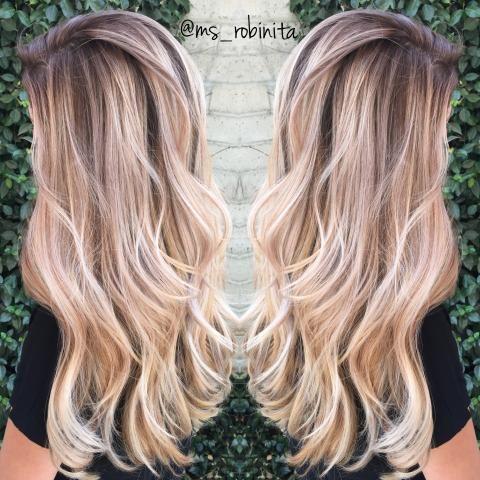 окрашивание волос 2017