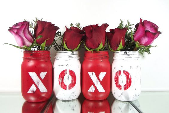 декор банок ко дню святого валентина