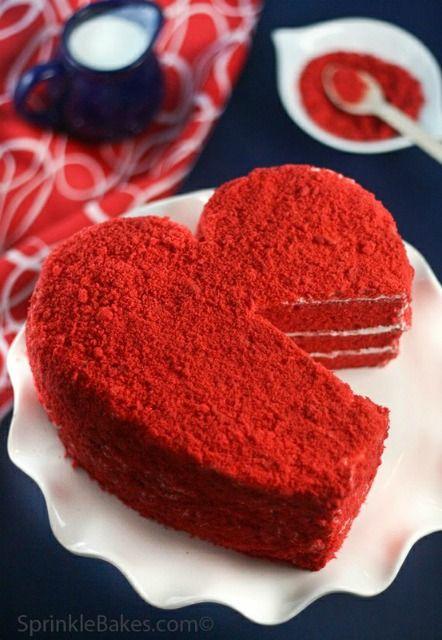 торт красный бархат ко дню святого валентина