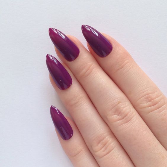 миндалевидная форма ногтей 2017