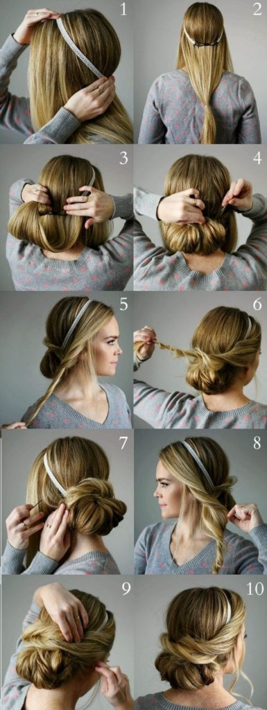 Схемы свадебных причёсок