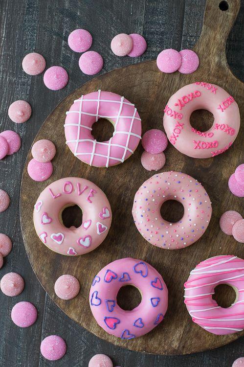 пончики на день святого валентина