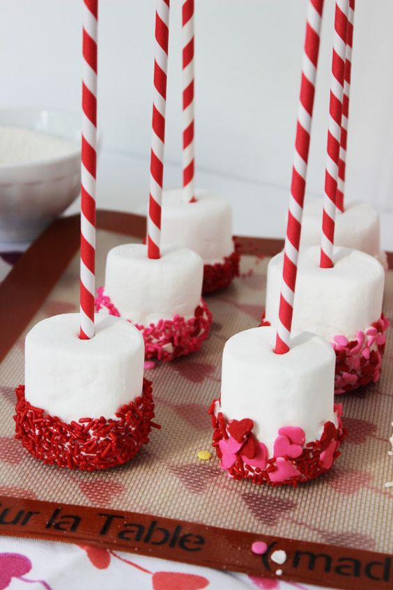 десерты ко дню святого валентина маршмеллоу в шоколаде