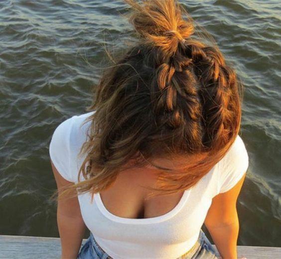 причёски с косами на короткие волосы