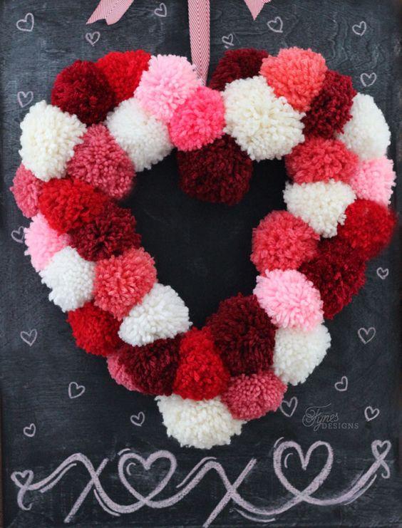 венок ко дню святого валентина