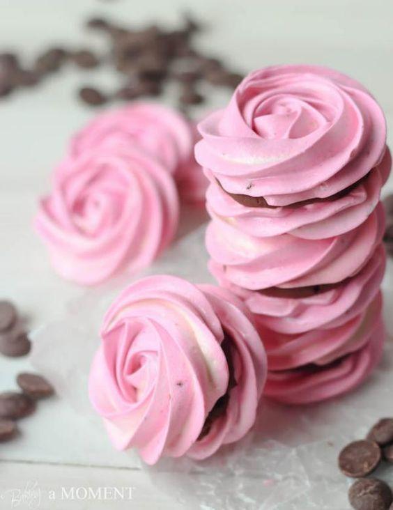 десерты ко дню святого валентина безе