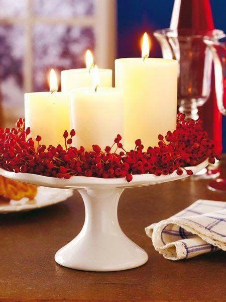 декор свечей на день влюбённых