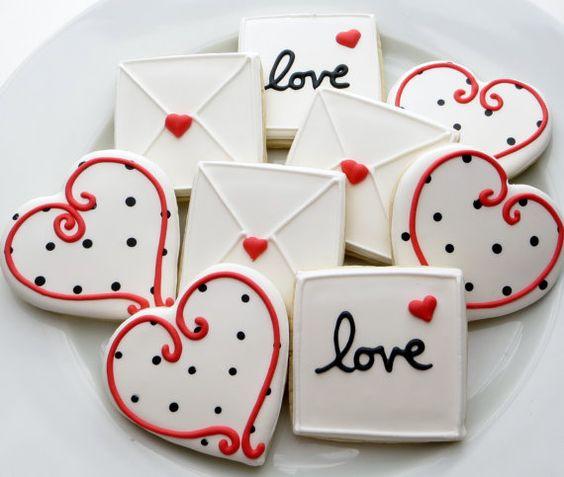 пряники и печенье на день святого валентина