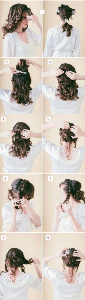 свадебные причёски своими руками пошаговые схемы