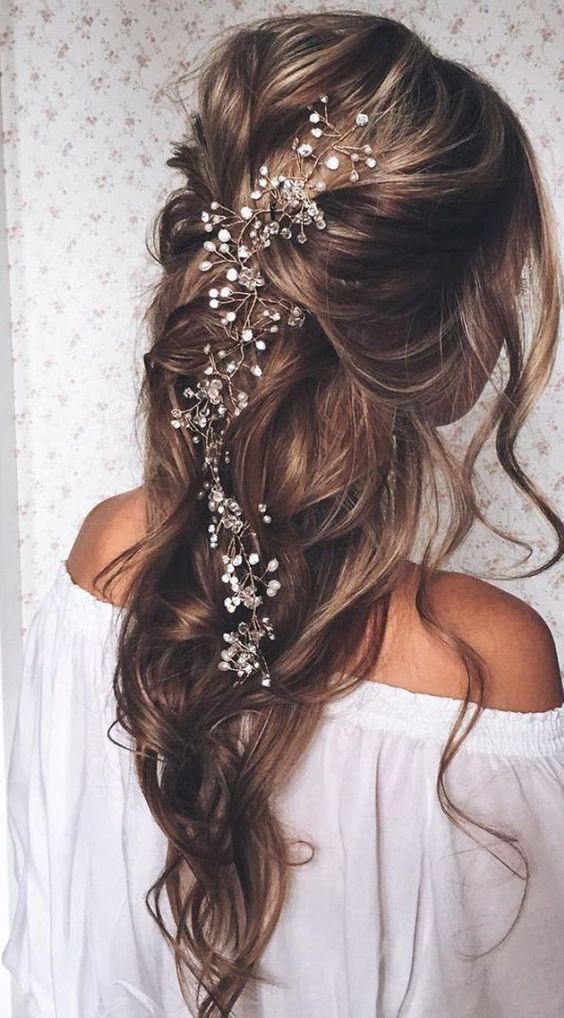 свадебные причёски 2017 на длинные волосы
