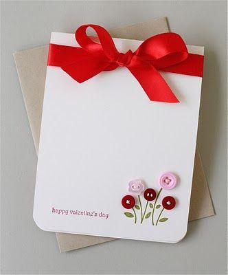 открытки с пуговицами на день святого валентина