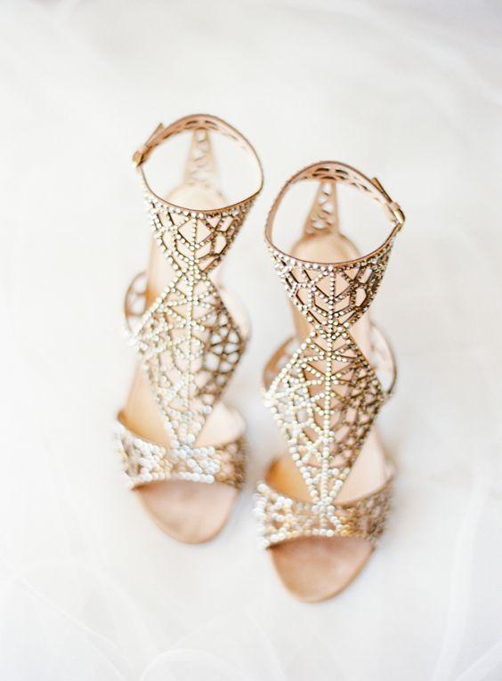 модные свадебные босоножки 2017