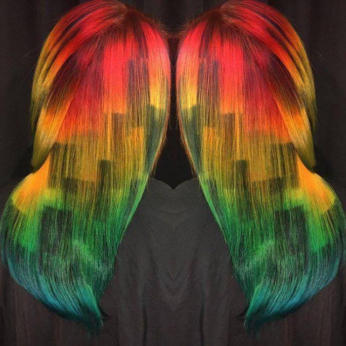 картины на волосах