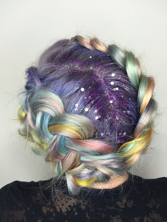 glitter hair roots