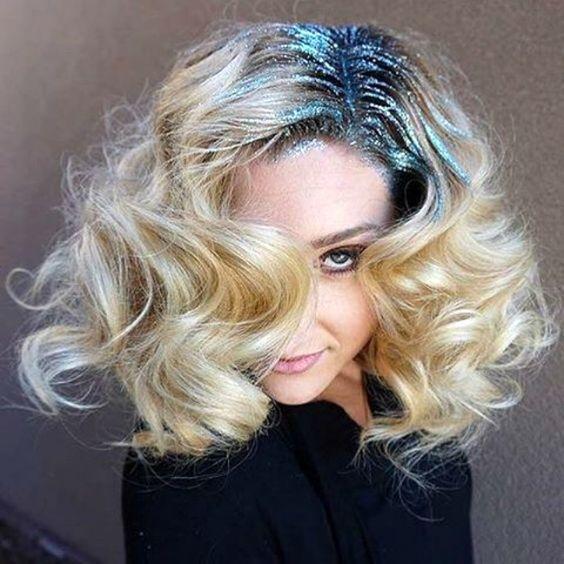 блестящие корни волос