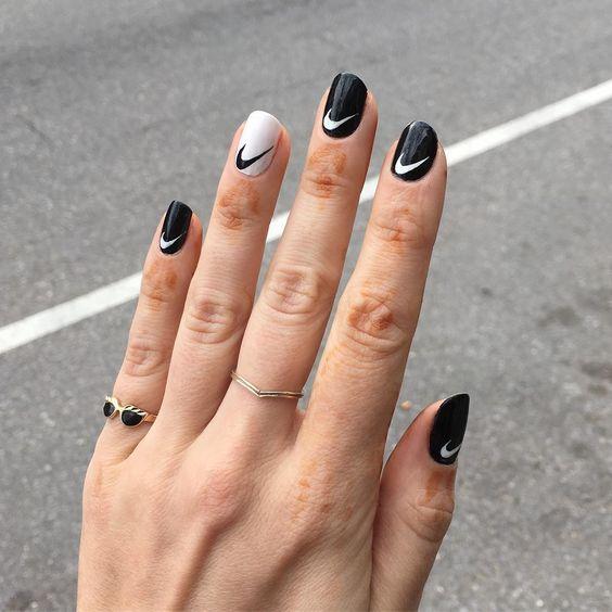 nike logo nails