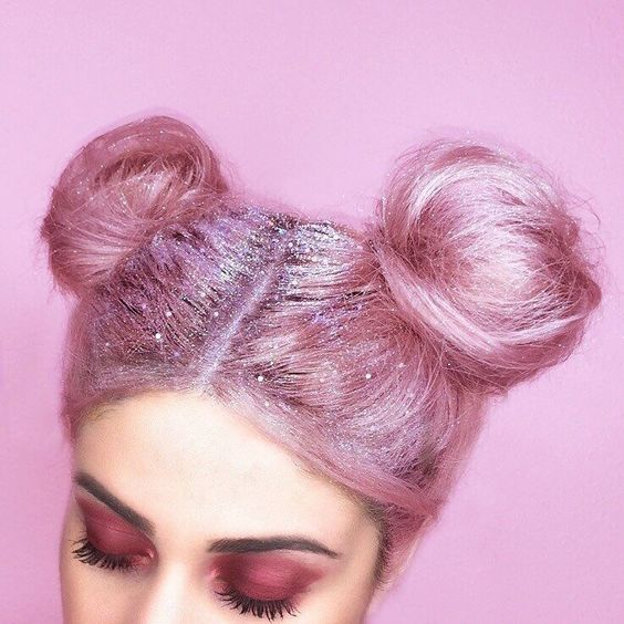 glitter hair roots