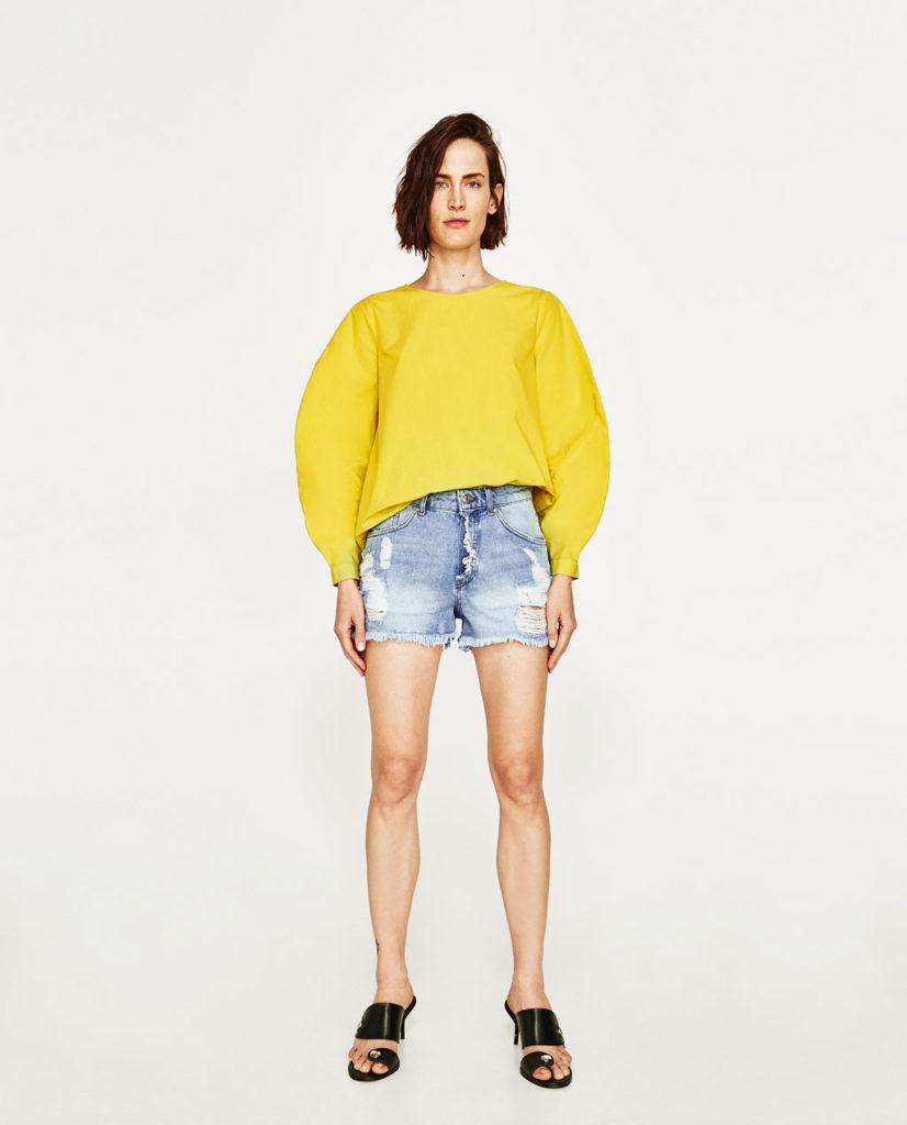 модные джинсовые шорты 2017