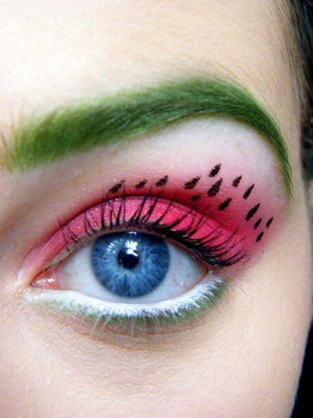 арбузный макияж