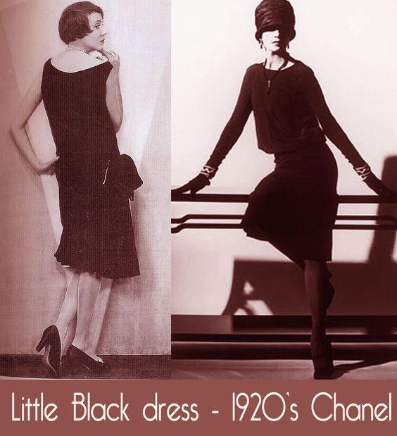 little black dress chanel 1920's