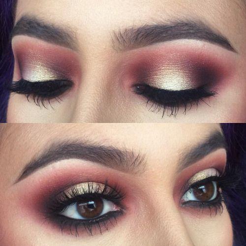 макияж в технике гало