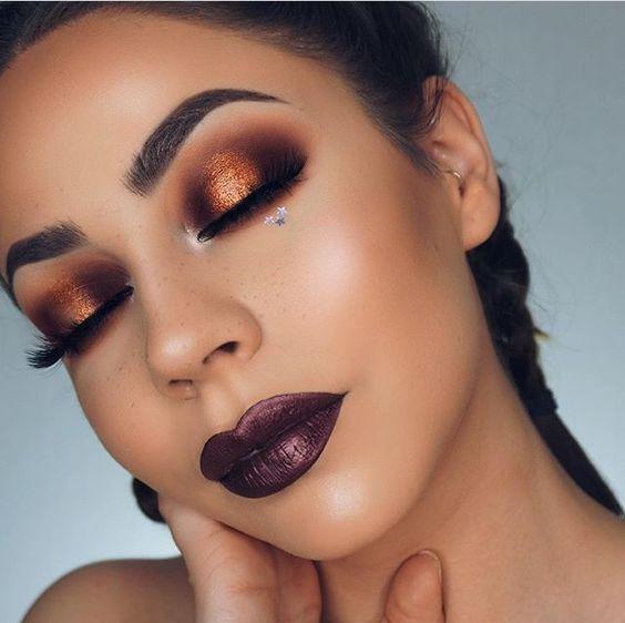 макияж в технике halo