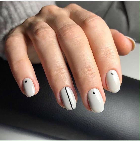 маникюр минимализм. minimalism nails
