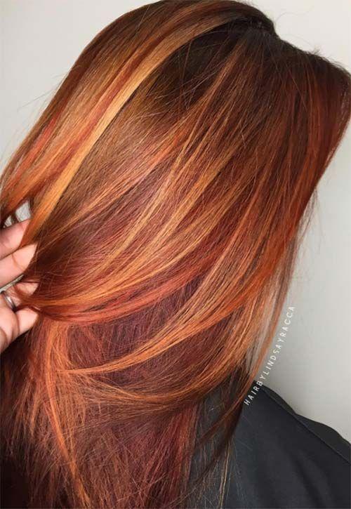 модное окрашивание волос 2019 для рыжих