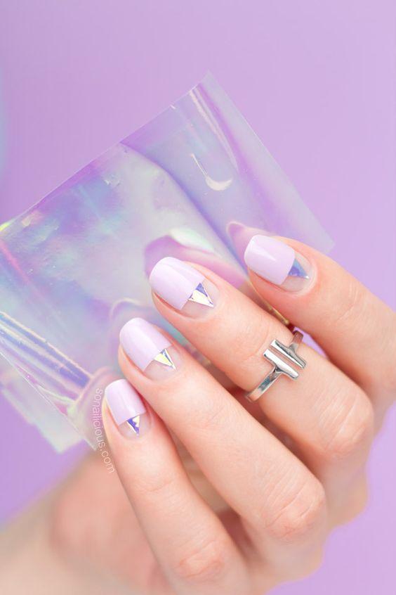 minimalist nail manicure