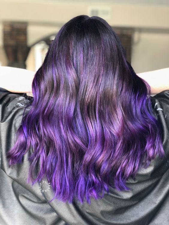 модное окрашивание волос 2019 для брюнеток