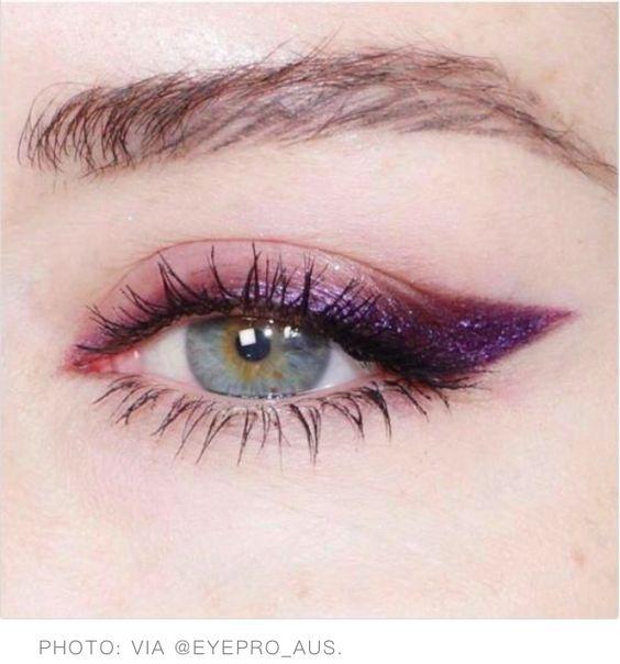 фиолетовые стрелки макияж