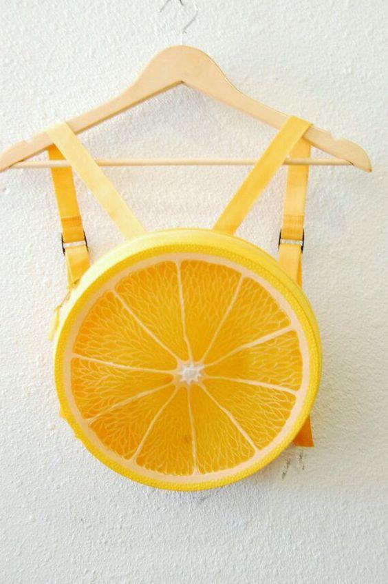 прикольная сумка в виде апельсина orange bag