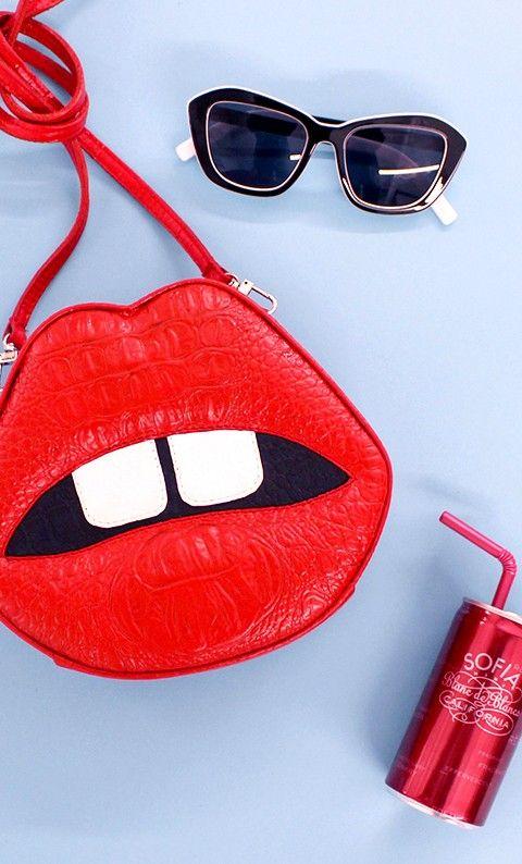 прикольная сумка в виде губ lips bag